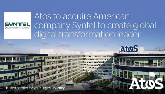 Atos acquires American IT services company Syntel for $3.4 billion