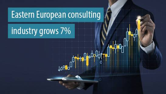 Eastern European consulting industry grows 7%, market worth €1.4 billion