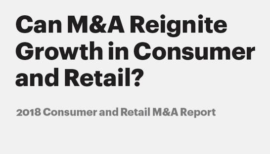 M&A in consumer goods and retail to hover around $400 billion mark