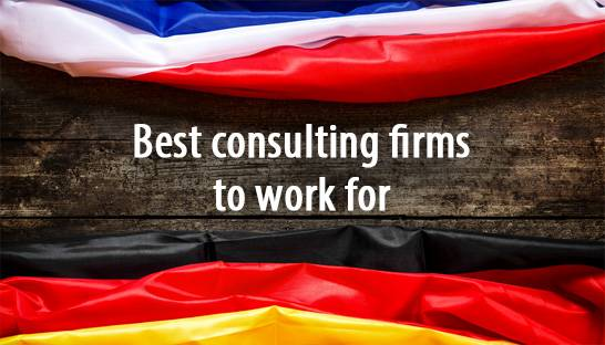 The best consulting firms to work for in Germany and France