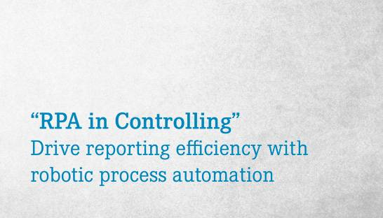 Robotics can drive reporting and planning efficiency in controlling
