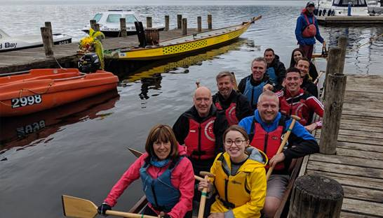 RSM raises £3,000 for charity via dragon boat race