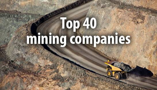 The 40 largest mining companies in the world