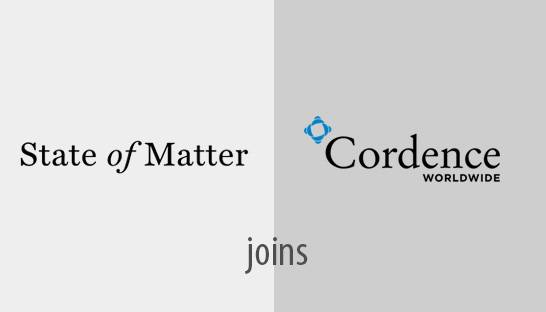 State of Matter joins global alliance Cordence Worldwide
