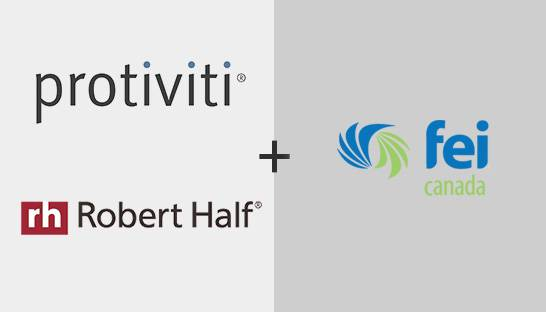 Robert Half and Protiviti partner with Financial Executives International Canada