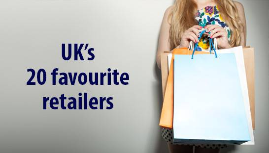 The top 20 retailers according to UK consumers