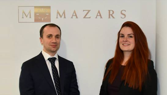 Katie Sharpe joins Mazars from Saffery Champness