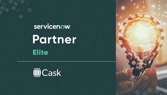 Cask recognized for ServiceNow implementation excellence