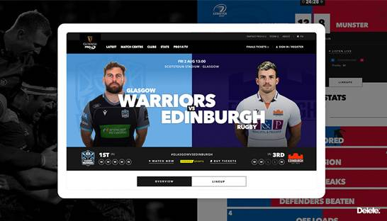 Digital agency develops rugby platform Guinness PRO14