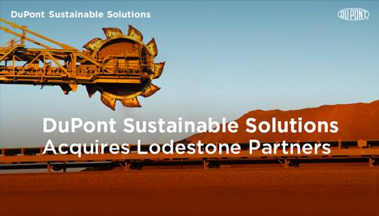 DuPont Sustainable Solutions buys mining consultancy Lodestone