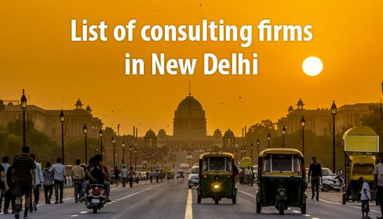 List of consulting firms in New Delhi, India