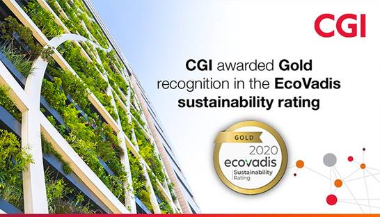 CGI wins EcoVadis Gold sustainability rating for third consecutive year