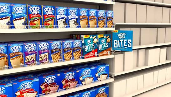 VR helps Kellogg's improve new product shelf placements
