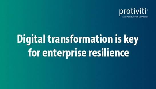 Digital transformation is key for post-covid enterprise resilience