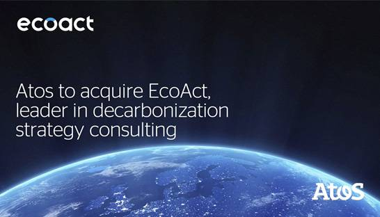 Atos acquires French sustainability consulting firm EcoAct