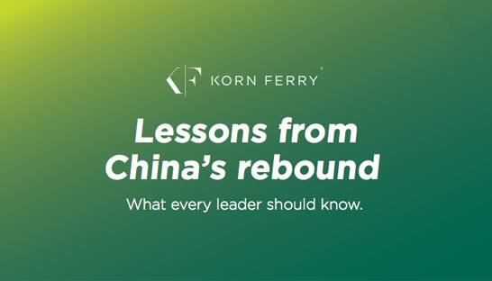 Ten leadership lessons from China's economic rebound