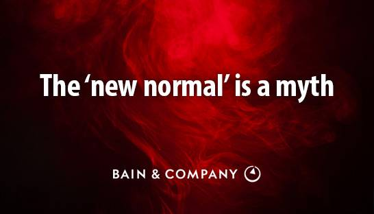 The 'new normal' is a myth. The future is nothing but normal