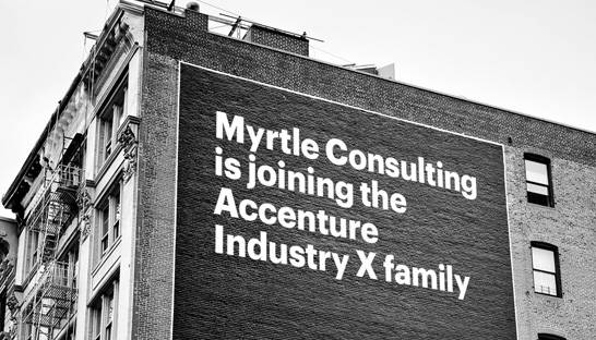 Accenture acquires industrial-focused Myrtle Consulting Group