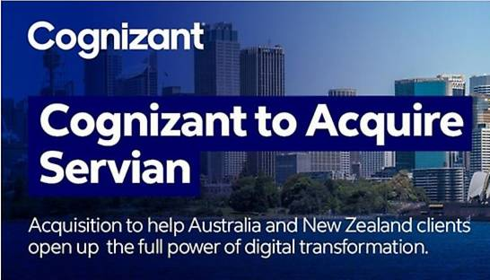 Cognizant acquires 500-strong digital consultancy Servian