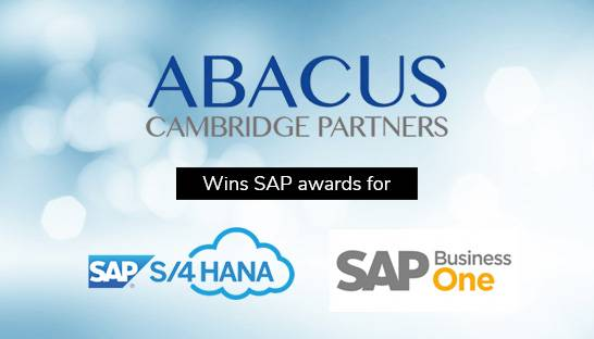 Abacus wins S/4 HANA Cloud and SAP Business One awards