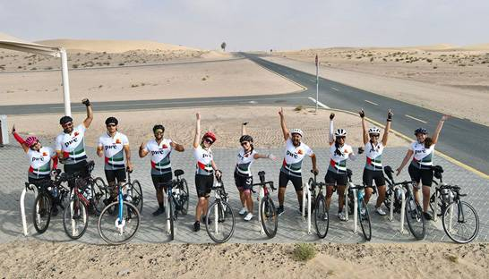 PwC'ers cycle 700 kilometres through 7 Emirates in 7 days